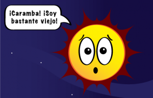 Viñeta cómica sobre la edad del Sol